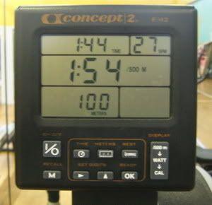 rowing machine times
