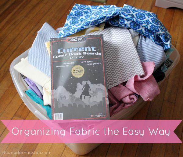 Organizing Fabric the Easy Way 1