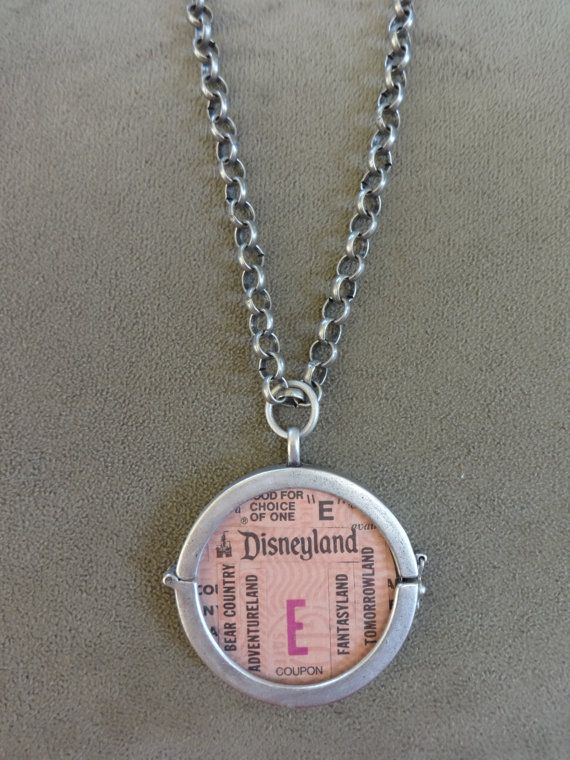 Vintage Disneyland E Ticket Collage Pendant