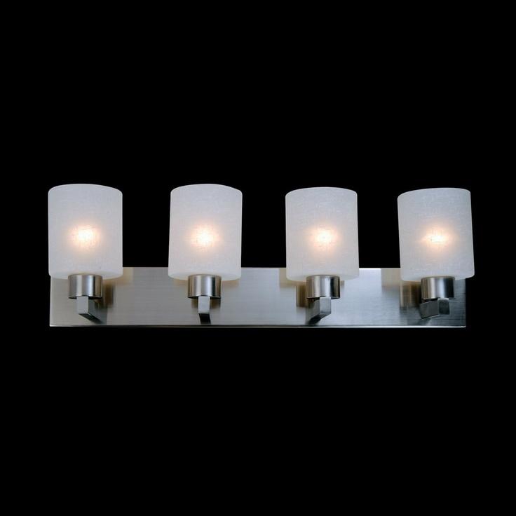 Lowes - Z-Lite 152-4V 4 Light Cobalt Bathroom Light, Brushed Nickel - Lowe's Canada, $251