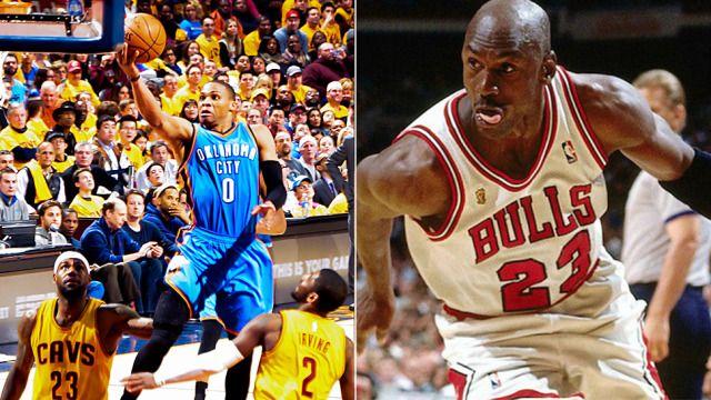 NBA czekało na taki wyczyn 26 lat! Westbrook jak Jordan. http://sport.tvn24.pl/koszykowka,117/nba,134/nba-czwarte-z-rzedu-triple-double-russela-westbrooka,521179.html