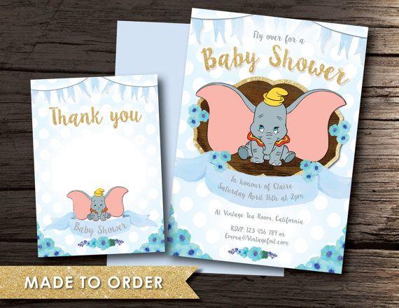 Dumbo Baby Shower, Baby Shower invitation, Boy, Shower, Newborn, Pregnancy, Dumbo baby, Dumbo shower, Newborn baby boy, baby Dumbo, Disney