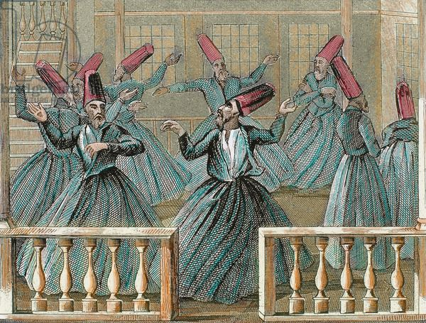 Dance of the Sufi dervishes. 19th century