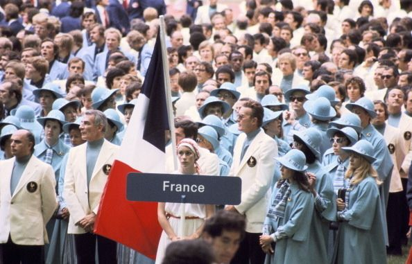 France's Olympic outfits for the 1976 Montreal opening ceremonies.