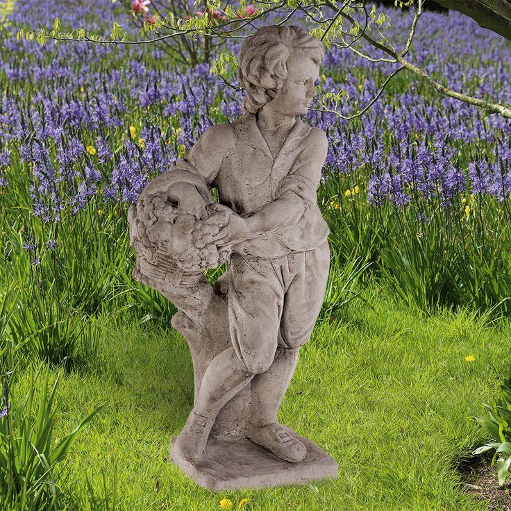 Gartenfigur 'Herbst': Antikisierter, frostfester, handgegossener Steinguss aus England, nach Vorlag... - gefunden auf www.country-garden.de