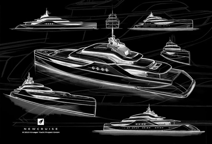 Organic contribution to the waves - 75 metre WAKE  Concept by NEWCRUISE Yacht Projects & Design