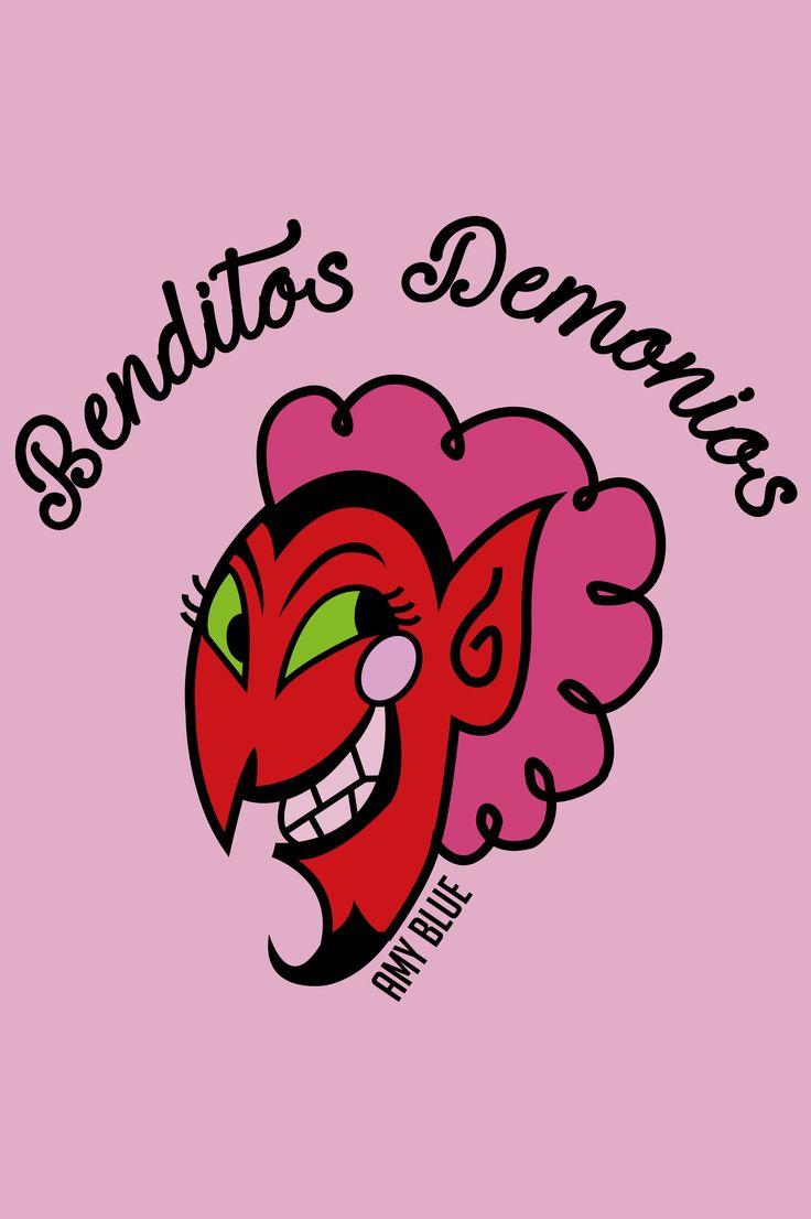 demonio benditos demonios <3 by: amy blue ilustration!!!