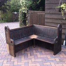 Antique Church Pew / Settle Bench Corner Seat /Heavy Scottish Pine. Ideal Garden