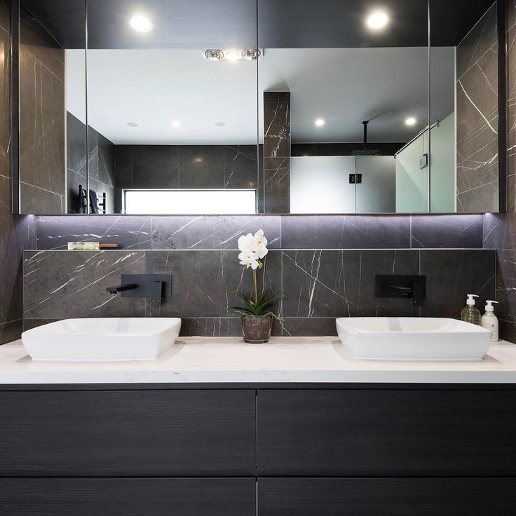 Experience luxury with this impressive his and her vanity in your master ensuite #LiveBoldly