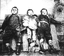 Three of the Kinck children, killed by Jean-Baptiste Troppmann's axe.  He had already killed their father to get at his money; then he cleared away the rest of the family before they could raise the alarm.  This sensational case has been immortalized by many influential writers of the time, from Ivan Turgenev and Georges Bataille to Richard Burton and Victor Hugo.  The tabloids have never been the same since, either.