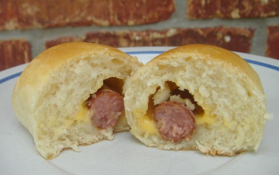 Sausage Kolaches--Klobasnicky recipe. (use the first recipe on the page).  Like the ones at donut shops in Texas. I miss them so much! I've never had them anywhere but back home in the Lone Star State