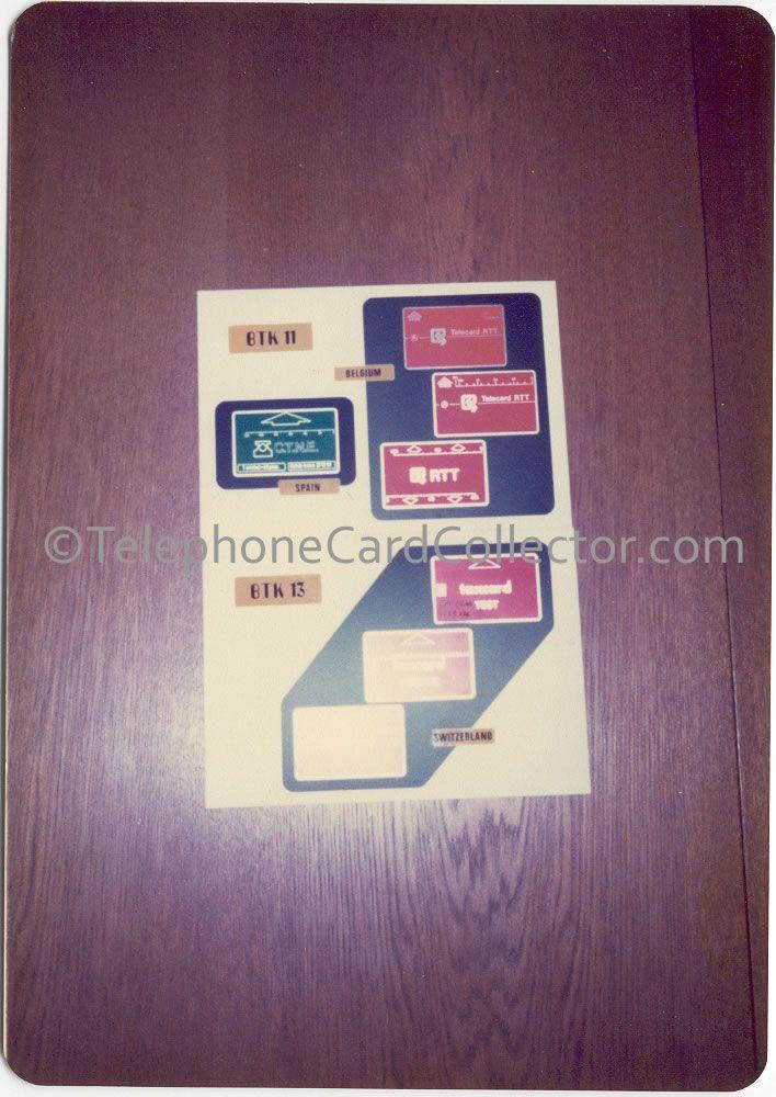 Landis & Gyr - Sodeco Phonocards - BTK 11 - Belguim, Spain and BTK 13 - Switzerland.
