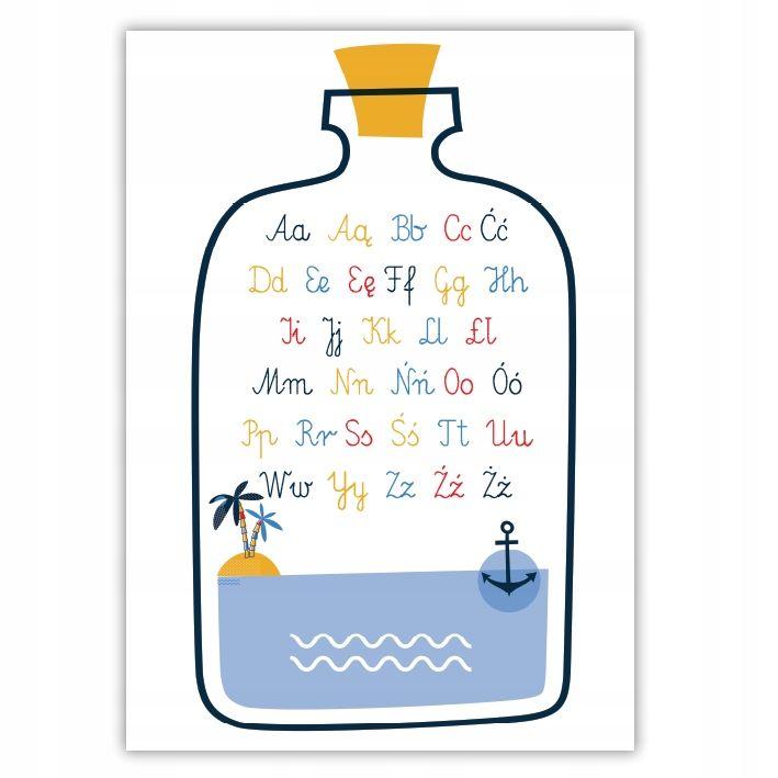 Alfabet Plakat Edukacyjny Format A4 Format
