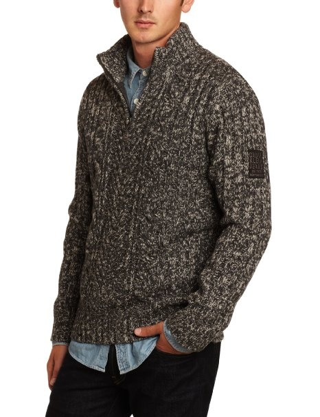 Calvin Klein Jeans Men's Half Zip Marl Cable Sweater ( would wear this....cute)