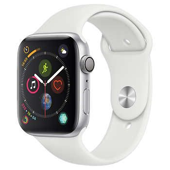 Apple Watch Series 4 GPS with White Sport Band 44mm