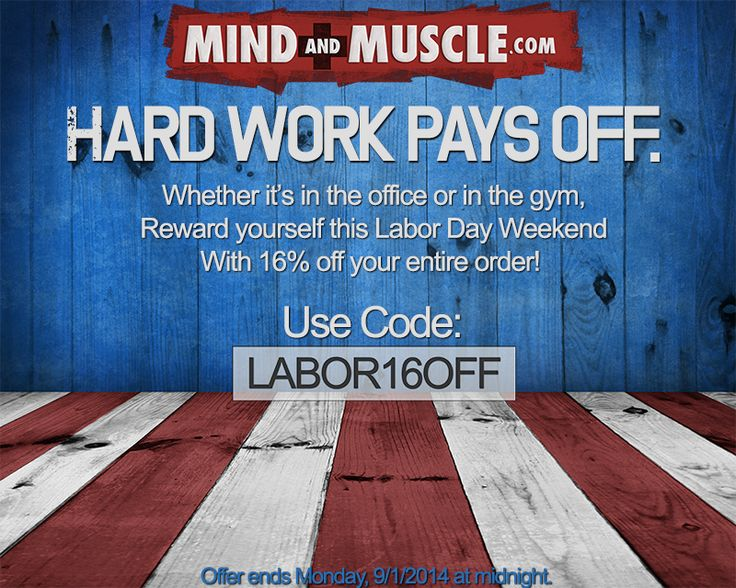 Check out our Labor Day Sale! Get your prohormones and put in work! www.mind-and-muscle.myshopify.com