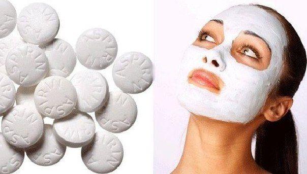 Для обновления кожи раз в неделю хорошо делать очищающую маску из аспирина. Маска удаляет все покраснения и выравнивает кожу.