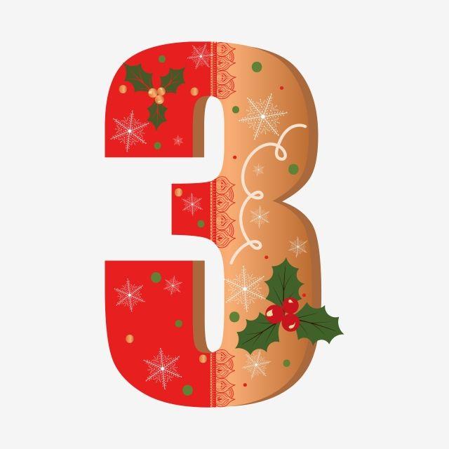 الكوكيز الزنجبيل لطيف رقم 3 مع الزهور عيد الميلاد Christmas Alphabet Merry Christmas Snowflakes Christmas Clipart