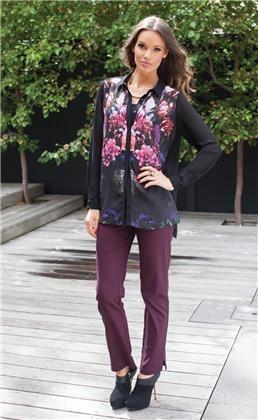 Ladies fashion clothing  Mindie Blouse  Black  Size:6 - 20  $79.95    Subi Capri Pants  Black, Burgundy, Red, Taupe  Size: 6 - 28  $79.95
