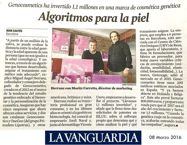 Publicación de La Vanguardia: Algoritmos para la piel
