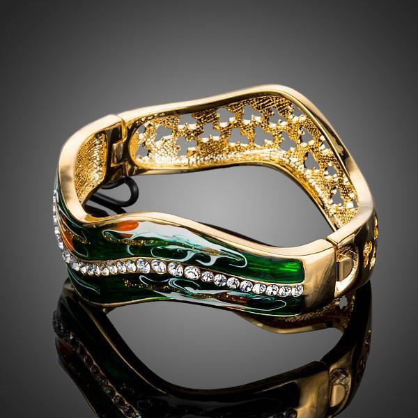 Wavy Green Bracelet