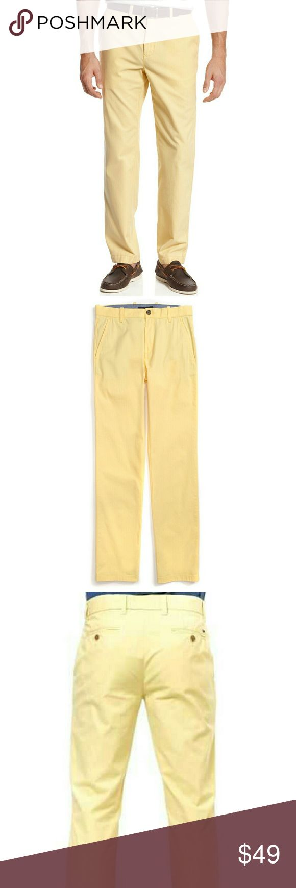 NWT Tommy Hilfiger Yellow Custom Fit Chino Pant 36 NWT-RETAIL. Light yellow, custom fit Tommy Hilfiger Chino Pants.  Size 36W. 100% cotton. Sits  below waist and slimmer through leg. DISCOUNTED BUNDLES. Reasonable offers welcome! Tommy Hilfiger Pants Chinos & Khakis