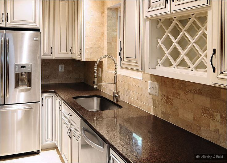 kitchen backsplash ideas with cream cabinets cabinets with back splashes brown countertop 18116