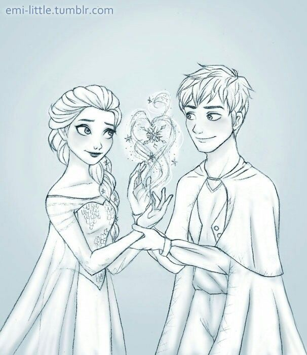 Coloring Pages Of Elsa And Jack Frost. Elsa and Jack Frost 473 best jake frost images on Pinterest  Jelsa