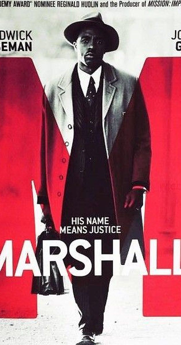 Directed by Reginald Hudlin.  With Dan Stevens, Chadwick Boseman, Josh Gad, Kate Hudson. About a young Thurgood Marshall, the first African-American Supreme Court Justice, as he battles through one of his career-defining cases.