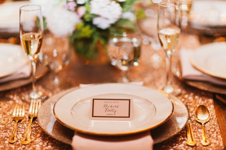 Elegant Hand-Lettered Place Cards