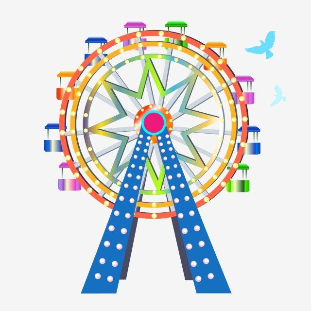 يوم الطفل حديقة ملاهي طفولة عجلة فيريس رومانسي الكرتون فيريس Png والمتجهات للتحميل مجانا Childhood Amusement Park Ferris Wheel