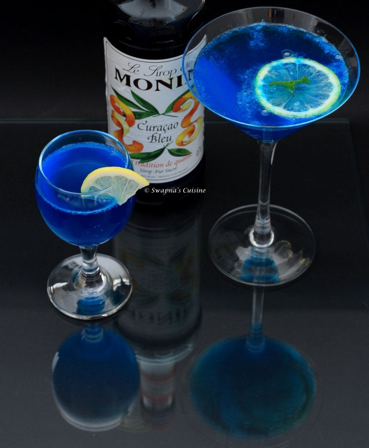 Blue Lagoon Cocktail Ingredients:  Blue Curacao Syrup – ¼ cup / 60ml Fresh Lemon Juice from 1 ½ to 2 lemons Sugar Syrup –as needed (Made by boiling equal parts of sugar and water and cooled). Soda / Sprite -250 ml