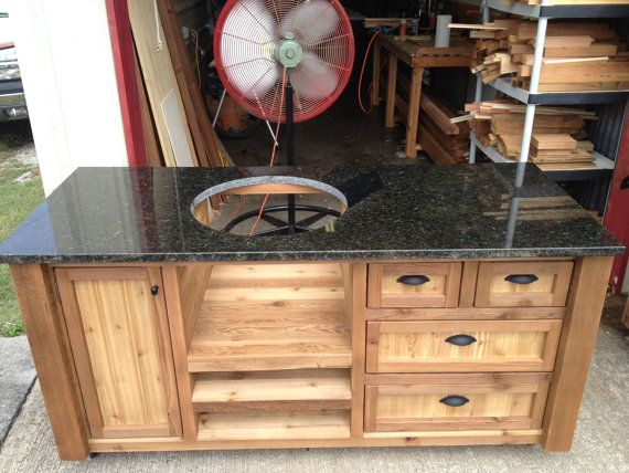 Nice CUSTOM Grill Tables   Kamado Joe, Big Green Egg, Primo   Dual Tables, Gas  Grill, Outdoor Kitchen, Built In Cooler   Wooden Cooler   Cart