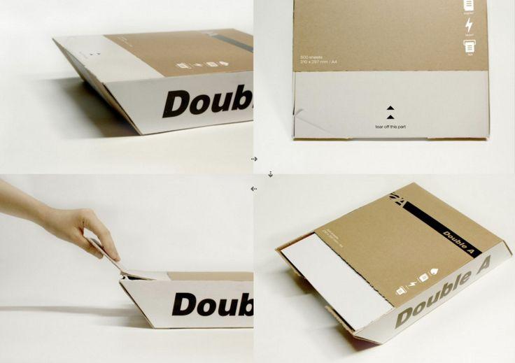 Double A — это проект упаковки для бумаги формата А4, которая позволяет людям легко извлекать бумагу из коробки. Бумага формата A4 является одним из наиболее часто используемых офисных принадлежностей, но из стандартной упаковки A4 трудно вынимать листы бумаги. Исправить эту ситуацию призван проект Double A в котором за счет изменения угла торцевых сторон коробки с прямого на острый получается удобный для извлечения бумаги картонный лоток-коробка. Кроме удобства для пользователей проект…