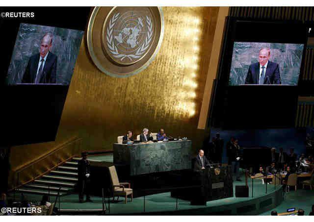 Putin's U.N. speech => Russia in Syria <=