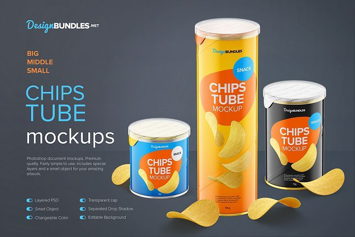 Download Glossy Snack Tube With Chips Mockups Chips Snack Chips Small Snacks