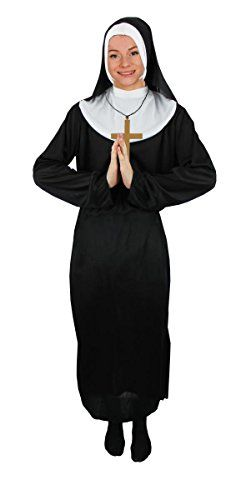 From 9.99 Unisex Nun Fancy Dress Costume Habit Headpiece And Belt - Religious Fancy Dress Costume For Men And Women (xx-large)