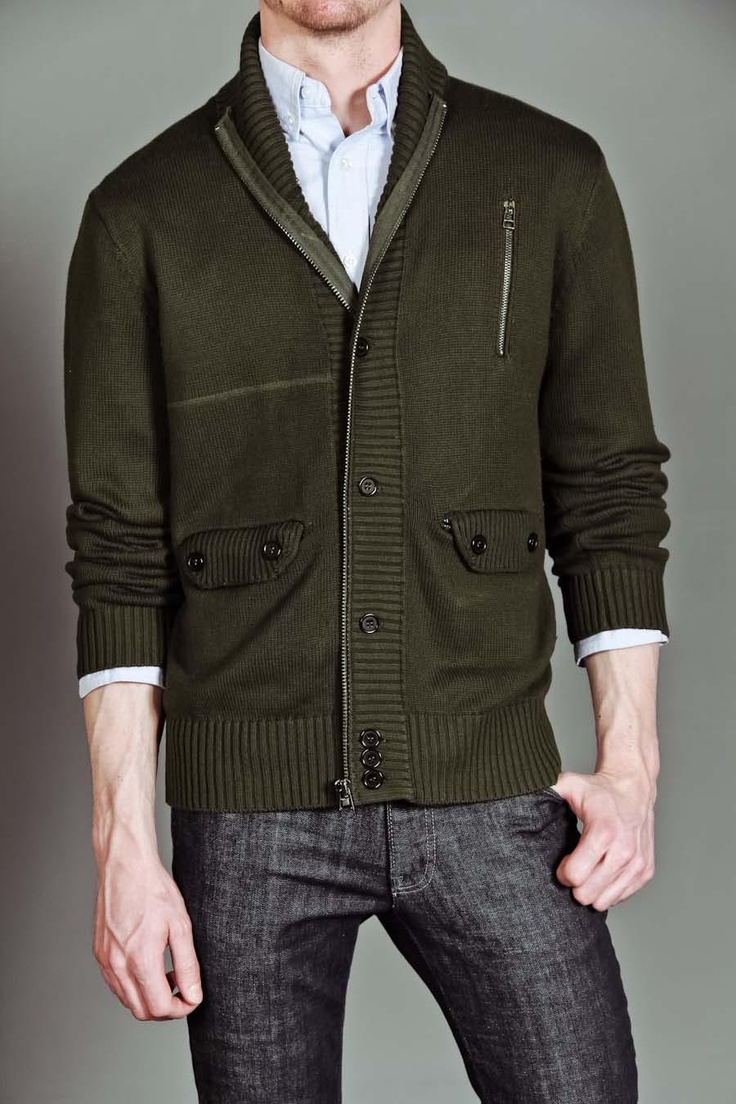 a cardigan with an edge