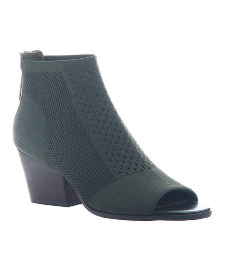 5b7a7e7b4e7 Dark green Rayna bootie by Nicole. Invigorate your shoe collection with  show-off a