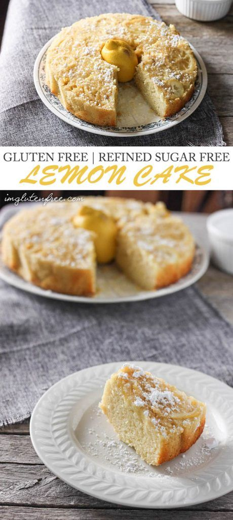 This gluten free and refined sugar free lemon upside down cake is perfect for a sweet and light summer dessert!