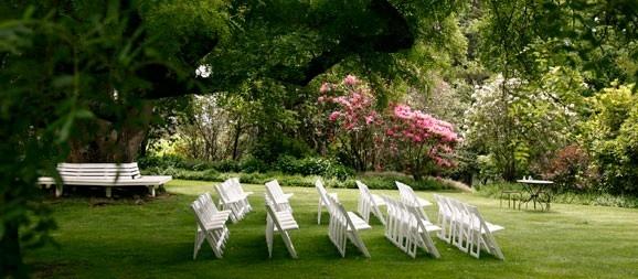 Garden ceremony set up