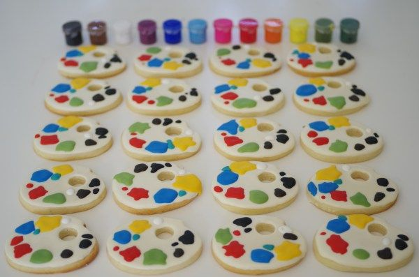 pallette cookies, by doctorcookies