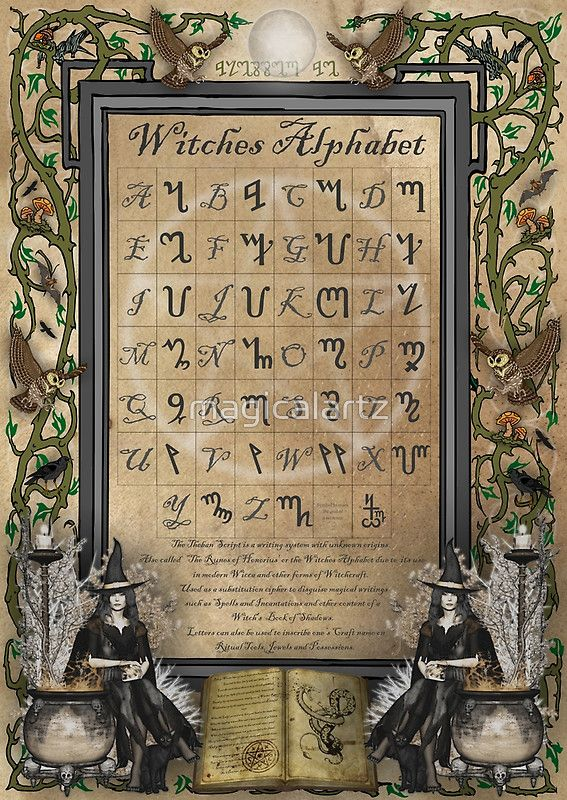 El alfabeto Tebano, uno de los mas conocidos en la magia ritual :)