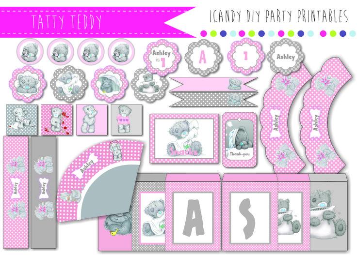 TATTY TEDDY BIRTHDAY PARTY PRINTABLES BABYSHOWER  https://www.facebook.com/icandydiypartyprintables