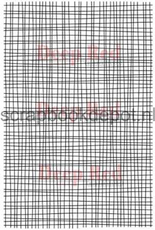 Fabric Weave Deep Red Cling Rubber Stamp