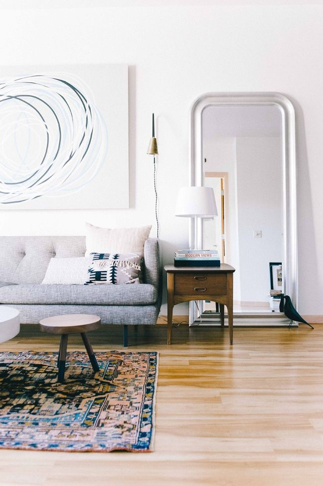 I'm really into the non-floor lamp floor lamp. Attacked to the wall, gives the same effect but takes up less space.