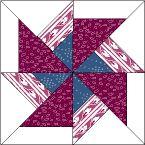 Good Pattern Demo Dbl Pinwheel  Made with Trapezoids!  ?