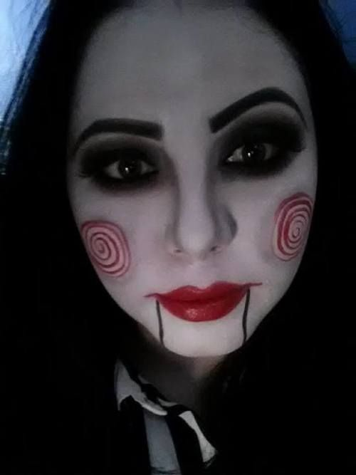 Jigsaw puppet make up. | Halloween outfit ideas ...