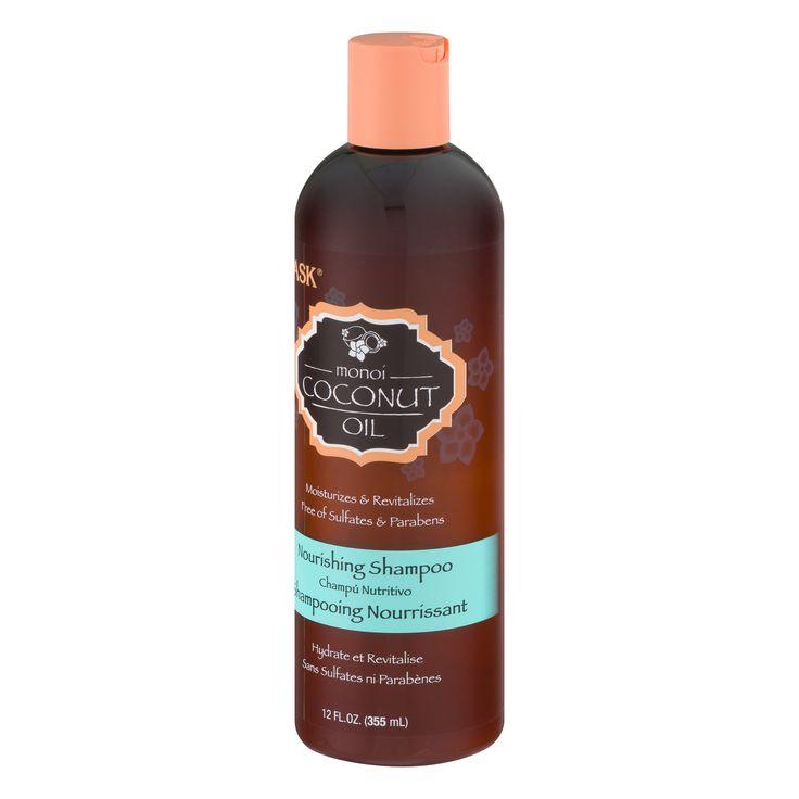HASK Nourishing Shampoo Sulfate Free Monoi Coconut Oil, 12