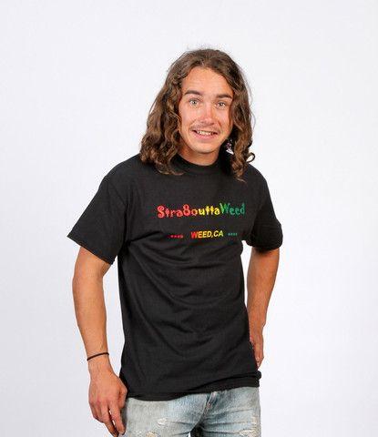 Stra8outtaWeed T-Shirt – Enjoy Weed Shack
